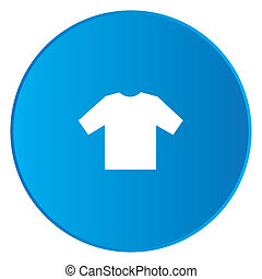 White Icon Isolated on a Blue Button - Tshirt