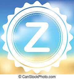 White Icon Isolated on a Blurred Background - Z