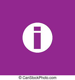 White Icon Isolated on a Purple Background - Round Info