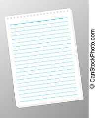 A white jotter pad with blue line that you can add your own text to