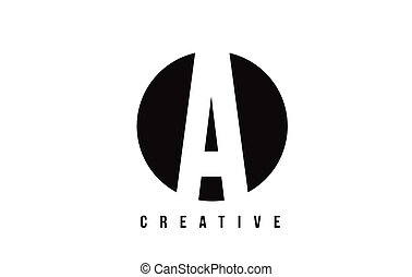 A White Letter Logo Design with Circle Background.
