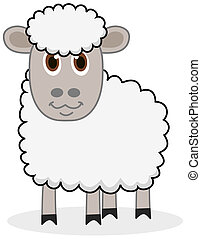 a white sheep with beautiful eyes