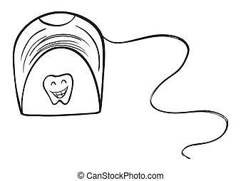 A white tissue holder