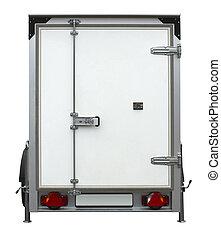 white trailer