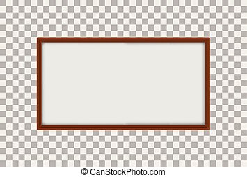 A Whiteboard on Transparent Background