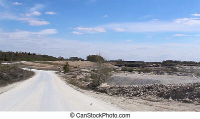 A wide road inside the mining industry