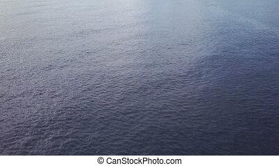 A wide shot of ocean view