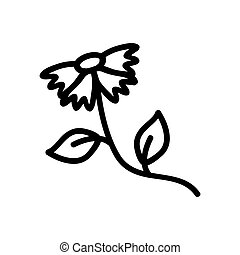 a wild plant icon vector outline illustration - a wild plant...
