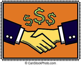 A Win-Win Deal! - An illustration of a handshake after ...