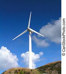 Wind Turbine - A Wind Turbine on a Windfarm
