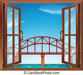 A window across the bridge