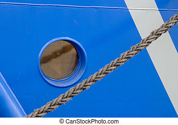 A window of the ship, a close up