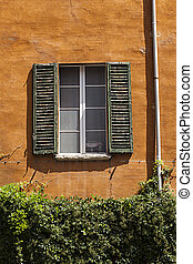 a window on a wall