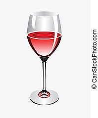 wineglass - A wineglass with red wine
