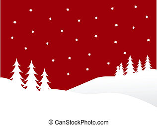 A winter vector background illustration