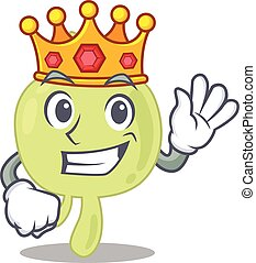 A Wise King of lymph node mascot design style with gold ...