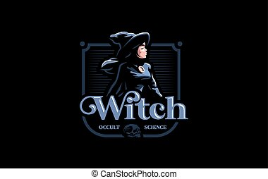 A witch in a witch's hat.