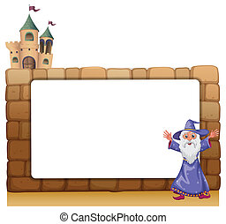 A wizard standing in front of an empty blank board