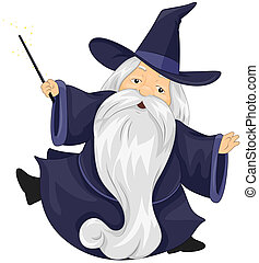 A Wizard with Clipping Path