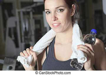 A woman at gym