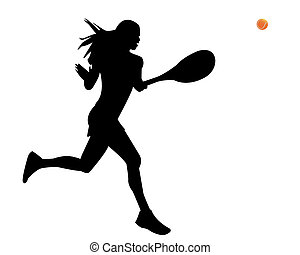 a woman is a tennis player with the ball on a white...