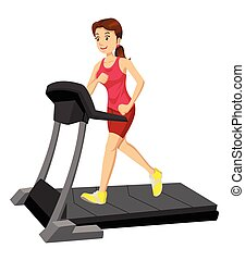 A Woman On A Treadmill