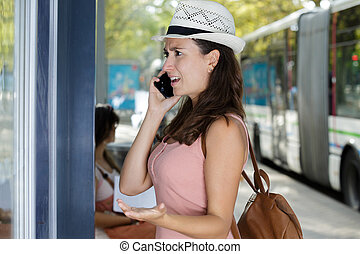 a woman receives concerning news