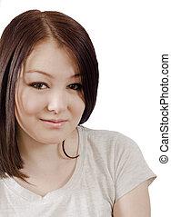 a woman with dark hair