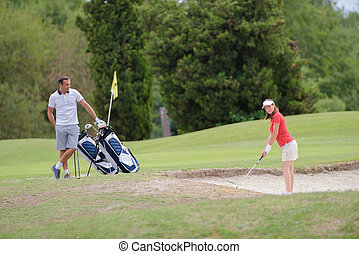 a womans turn for golf