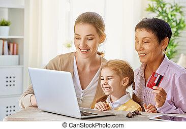 online shopping - a women doing online shopping