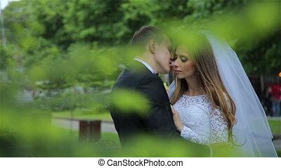 A wonderful and romantic wedding couple