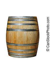 wood barrel - a wood barrel on a white background