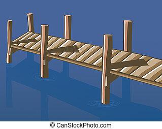 A wood pier