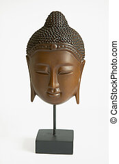 asian face mask - a wooden asian face mask