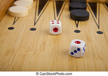 wooden box in backgammon