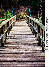A Wooden Bridge Handmade Structure