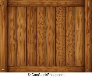 A wooden empty board