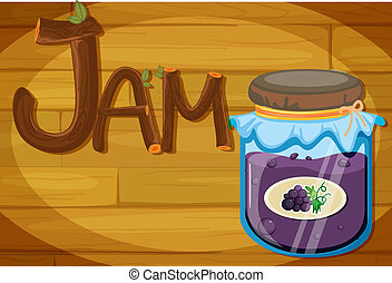A wooden frame with a jam