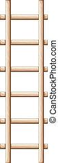 A wooden ladder