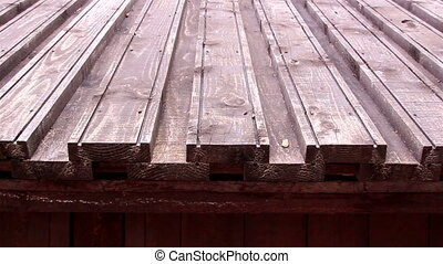 A wooden shingle roof from a castle - A wooden shingle roof...
