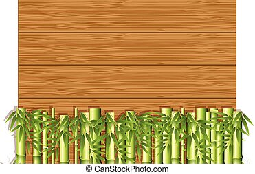 A Wooden Template with Bamboo