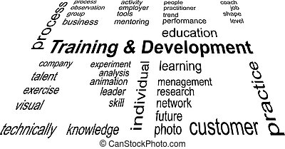 A word cloud - Training and Development - related items