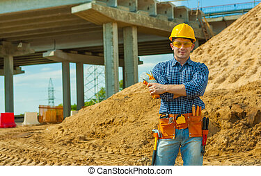 a worker on construction site