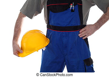a worker with helmet