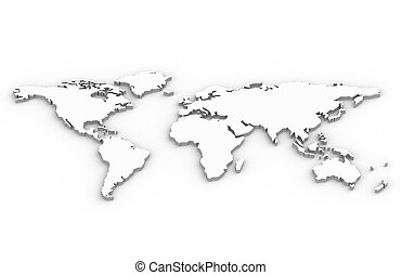 A World Map in 3D