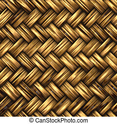 A woven wicker material - Seamless woven wicker background