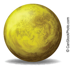 A yellow ball