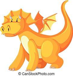 A yellow dragon character