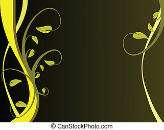 A yellow floral background