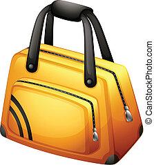 A yellow handbag